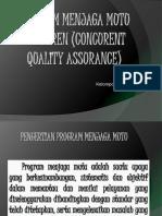 Program menjaga mutu konkuren (Concurent quality assurance.pptx