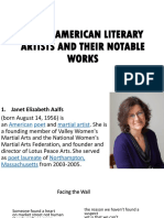 AMERICAN LITERARY ARTISTS AND THEIR NOTABLE WORKS.pptx