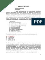 Gabarito - Lista de Exercícios - Administração Interdisciplinar - NP2