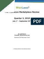 Freelance Market Review, Q3 2010