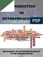 Entrepreneurship - Unit I (Introduction)