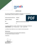 Certificado de Afiliacion Nueva EPS ROGER GONZALEZ