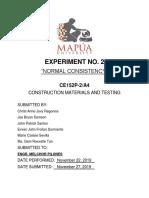 CE152P-2 - Laboratory Report No. 2
