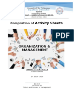Activity Sheets in Om