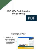 Basic LabView Programming