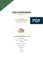 Actas Constitucionales