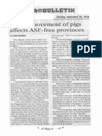 Manila Bulletin, Nov. 26, 2019, Ban on movement of pigs affects ASF-free provinces.pdf
