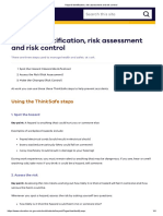 Hazard Identification, Risk Assessment and Risk Control