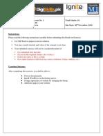 Wordpress assignment