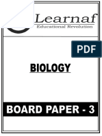 12th Board Test 3 Paper of Biology by Hemant Maurya Sir