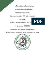 Practica#2_Elaboracion de Cable UTP Recto y Cruzado_Gnz Mtz