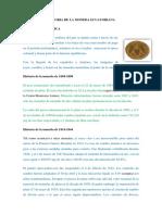 Informe Historia de La Moneda Ecuatoriana
