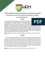 Articulo Científico POLÍTICAS TRIBUTARIAS Y LA RECAUDACIÓN DE ARBITRIOS EN LA MUNICIPALIDAD DE HUÁNUCO.