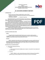 Annual Accomplishment Report