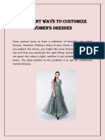 Different Ways to Customize Women's Dresses