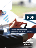 Canadian Guide to Private Placement of Securities Ed2 Jan 2017