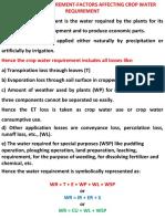 crop water requirement