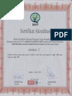 Sertifikat Akreditasi Teknik Informatika Tahun 2009-2010