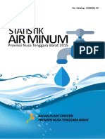 Statistik Air Minum Provinsi Nusa Tenggara Barat 2015