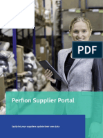 Perfion Supplier Portal - Outsource data maintenance  to your suppliers