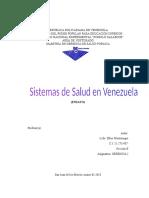 ensayo sobre los sistemas de salud en venezuela