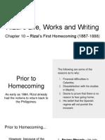Rizal Report Final - Rizal's First Homecoming