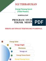 Energi Terbarukan Pertemuan 6