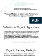 Various Models to Ecological Agriculture