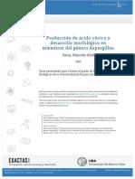 Acido Citrico Genero Aspergillus