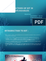 APPLICATIONS OF IOT in SMART wearables.pptx