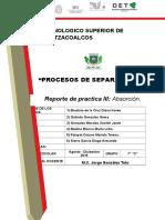 Practica de Prosesos de Separacion III-PRACTICA 3