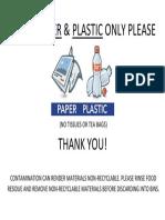 CLEAN PAPER & PLASTIC