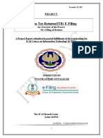 ITR Filing Project Report by Venky