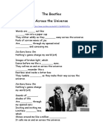 Across the Universe- The Beatles (Gerunds)