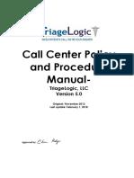 TriageLogic Call Center Policy and Procedure Feb2018 v5.0