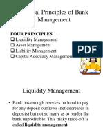liquidity management  in bank management principles