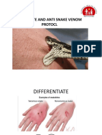 Snake bite and anti snake venam protocol