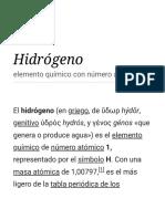 Hidrógeno - Wikipedia, La Enciclopedia Libre