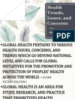 Health Trends Issues and Concerns