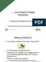 Network Design (Rancid)