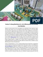Foshan Te Xiang Machinery Co. Ltd- Offering Steel Coil Slitting Line Machine