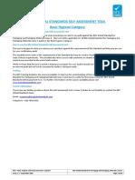 BRC GLOBAL STANDARDS SELF-ASSESSMENT TOOL Basic Hygiene Category
