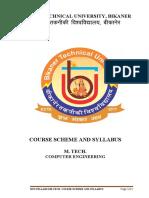 M. Tech. Computer Engineering Scheme and Syllabus