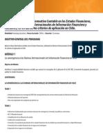 Temario Normas Internacionales Informacion Financiera IFRS (1)