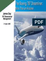 Boeing Dimensional management