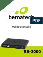 MANUAL USUARIO BEMATECH SAT RB-2000