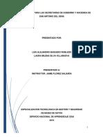 Plan de Respaldo Para Las Secretaria de Gobierno y Hacienda