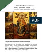 25 Noiembrie - Sfânta Mare Muceniță Ecaterina, Omilia IPS Augustin de Florina