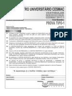Cesmac-prova e Gabarito 1ºdia Tipo1 Medicina Cesmac 2017.1