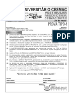 Cesmac-prova e Gabarito 1ºdia Tipo1 Medicina Cesmac 2017.2